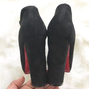 Christian Louboutin Shoes - 💯🆑ROCK & GOLD BLACK SUEDE ANKLE BOOTS 120 37